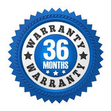 36 Months Warranty Badge Isolated Stock Photos