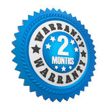 2 Months Warranty Badge Isolated. On white background. 3D render stock illustration