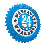24 Months Warranty Badge Isolated. On white background. 3D render Stock Photo