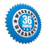 36 Months Warranty Badge Isolated Royalty Free Stock Images