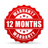 12 months warranty vector icon Royalty Free Stock Image