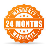 24 months warranty vector icon. Illustration Royalty Free Stock Images