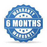 6 months warranty vector icon. Isolated on white background Royalty Free Stock Photos