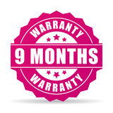 9 months warranty vector icon. Isolated on white background Stock Images