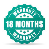 18 months warranty vector icon. Isolated on white background Stock Photos