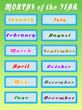Months of the year Royalty Free Stock Photography