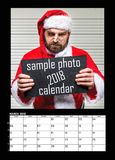 Months of year 2018. Calendar royalty free stock photo