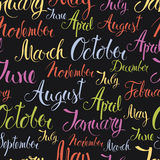 Months of the year colorful background Stock Images