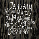 Months of year written with a brush Stock Photo