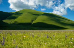 monti国家公园sibillini 免版税库存照片