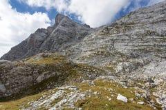 Monti Breithorn nelle alpi tedesche, Baviera Immagini Stock