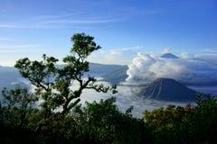 Monti Bromo, un vulcano attivo in East Java, Indonesia Immagini Stock