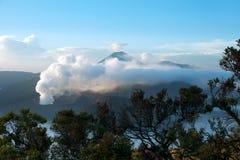 Monti Bromo, un vulcano attivo in East Java, Indonesia Immagini Stock Libere da Diritti