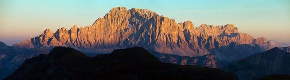 Monti Civetta, Tirolo del sud, le montagne delle dolomia, Italia Fotografia Stock