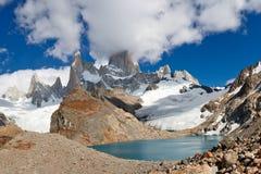 Monti Fitzroy & Laguna de los Tres, Patagonia Fotografie Stock Libere da Diritti
