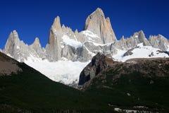 Monti il aka di Fitz Roy Argentina la montagna di fumo Immagini Stock Libere da Diritti