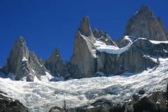 Monti il aka di Fitz Roy Argentina la montagna di fumo Fotografie Stock