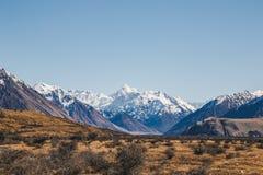 Monti il ` Archiac di D e le alpi del sud al fiume Hak di Rangitata Fotografia Stock Libera da Diritti