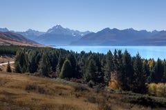 Monti il cuoco in chiaro cielo, l'isola del sud, NZ Immagine Stock