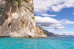 Monti Insani Crazy Mountain - Sardenia - Italy. Monti Insani - Baunei - Sardenia, Italy. Sailing to Crazy Mountain on the east coast of Sardenia. Photo taken on royalty free stock photography