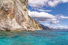 Monti Insani Crazy Mountain - Sardenia - Italy. Monti Insani - Baunei - Sardenia, Italy. Sailing to Crazy Mountain on the east coast of Sardenia. Photo taken on stock photo