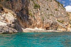 Monti Insani Crazy Mountain - Sardenia - Italy. Monti Insani - Baunei - Sardenia, Italy. Sailing to Crazy Mountain on the east coast of Sardenia. Photo taken on stock image