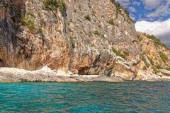 Monti Insani Crazy Mountain - Sardenia - Italy. Monti Insani - Baunei - Sardenia, Italy. Sailing to Crazy Mountain on the east coast of Sardenia. Photo taken on royalty free stock photo