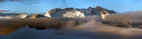 Monti Marmolada, le montagne delle dolomia delle alpi, Italia Immagine Stock Libera da Diritti