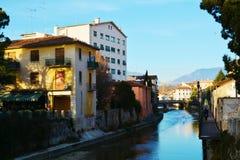 Monticato river in Conegliano Veneto, Italy Royalty Free Stock Photo
