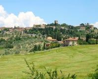 Monticchiello village in Tuscany. Italy Stock Photos