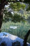 Monticchio Seen auf Berg-Geier Basilikata, Italien Lizenzfreie Stockfotos