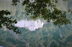 Monticchio Seen auf Berg-Geier Basilikata, Italien Lizenzfreies Stockfoto