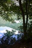 Monticchio Seen auf Berg-Geier Basilikata, Italien Lizenzfreie Stockbilder