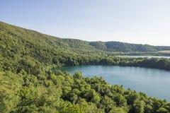 Monticchio vulcanic lake Stock Images