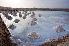 Monticelli del sale in uno stagno del sale Fotografie Stock Libere da Diritti