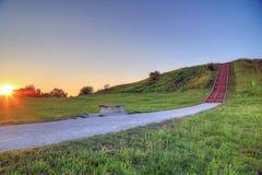 Monticelli di Cahokia immagine stock
