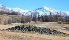 Monticelli di sepoltura antichi Fotografia Stock