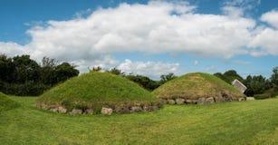 Monticelli neolitici Irlanda di Knowth più piccoli fotografie stock libere da diritti