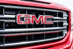 Monticello - Circa June 2018: GMC Truck dealership. GMC and Buick are divisions of GM I Royalty Free Stock Photography