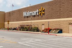 Monticello - Circa June 2018: Walmart Retail Location. Walmart is boosting its internet and ecommerce presence IX Stock Photo