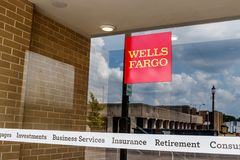 Monticello - Circa June 2018: Wells Fargo Signage and Logo. Wells Fargo is selling all its branches in three Midwestern states III Stock Photography