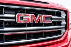 Monticello - Circa Juni 2018: GMC-het Vrachtwagenhandel drijven GMC en Buick zijn afdelingen van GM I Royalty-vrije Stock Fotografie