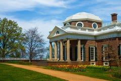 Monticello Frontowy Zewnętrzny widok obraz royalty free