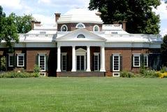 Monticello-huis van Jefferson Stock Afbeeldingen