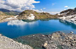 Monticello Lake in Presena mount, Italy Stock Photos
