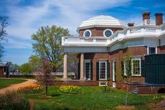 Monticello nieruchomości Boczny widok fotografia stock