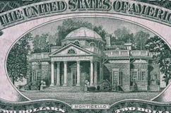 Monticello a partir de 1953 dólares Bill de dos. Foto de archivo libre de regalías
