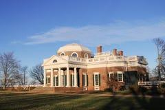 Monticello-Rückseite stockbild