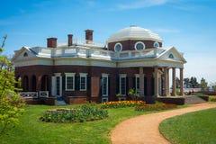 Monticello, Thomas - Jefferson& x27; s dom zdjęcie stock