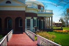 Monticello trädgårdgångbana Fotografering för Bildbyråer